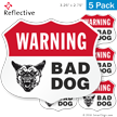 Bad Dog Warning Shield Label Set