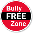 Bully Free Zone Glass Door Decal