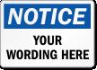 Customizable OSHA Notice Add Your Text Label