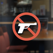 No Gun Symbol Glass Decal