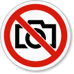 No Photography ISO Prohibition Safety Symbol Label