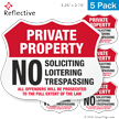 No Soliciting Loitering Trespassing Shield Label Set
