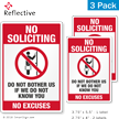 No Soliciting No Excuses Label Set