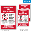 No Soliciting No Excuses No Exceptions Label Set