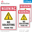No Soliciting Thank You Security Warning Label Set