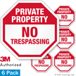 No Trespassing Private Property Label Set
