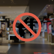 No Weapons Symbol Glass Decal