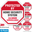 Protected By Home Security System Surveillance Label Set