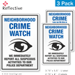 Report Suspicious Activities Crime Watch Label Set
