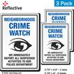 Report Suspicious Activities Crime Watch Label Set