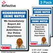 Report Suspicious Activities McGruff Crime Watch Label Set