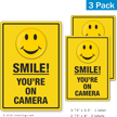 Smile You Are On Camera Security Label Set
