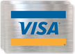 Visa Logo Glass Decal