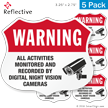 Video Surveillance Shield Label Set