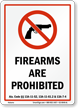 Alabama Firearms And Weapons Law Sign