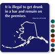Bar Premises Law Novelty Sign, Alaska State