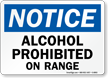 OSHA Notice No Alcoholic Beverages Allowed Sign