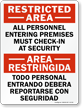 All Personnel Must Check In Bilingual Sign