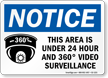 OSHA Notice Video Surveillance Sign