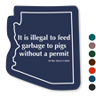 Arizona Animal Safety Novelty Law Sign