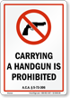 Arkansas Firearms And Weapons Law Sign