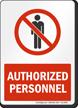 Admittance Sign
