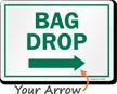 Bag Drop Right Arrow Golf Recreation Sign