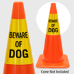 Beware Of Dog Cone Collar