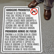 SlipSafe™ Bilingual Floor Sign - Texas Concealed Carry Regulations