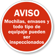 Spanish Inspection Sign