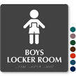 Boys Locker Room Sign