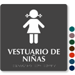 Vestuario De Niñas Spanish Braille Sign