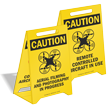 Caution Aerial Filming And Photography Drone Floor Sign
