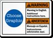 Bilingual ANSI Warning / Advertencia Custom Sign