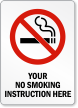 Custom Smoke-Free Sign