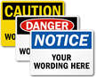 Customized OSHA Header Sign
