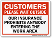Customers Wait Outside Sign