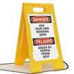 Floorboss Custom Danger Floor Stand Sign