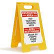 Personalized Bilingual Add Restricted Area Wording Here Sign