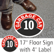 Garbage Can Floor Sign & Label Kit