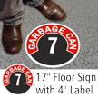 Garbage Can 7 Floor Sign & Label Kit