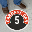 Garbage Can - 5 Floor Sign