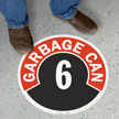 Garbage Can - 6 Floor Sign