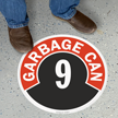 Garbage Can - 9 Floor Sign