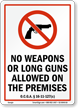 Georgia Firearms And Weapons Law Sign