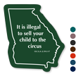 Georgia Children Safety Rules Novelty Law Sign