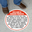 SlipSafe™ Floor Sign - Texas Open Carry Regulations