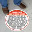 SlipSafe™ Floor Sign - Texas Open Carry Regulations In Spanish