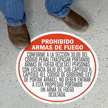 SlipSafe™ Floor Sign - Texas Concealed Carry Regulations In Spanish