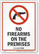 Idaho Firearms And Weapons Law Sign